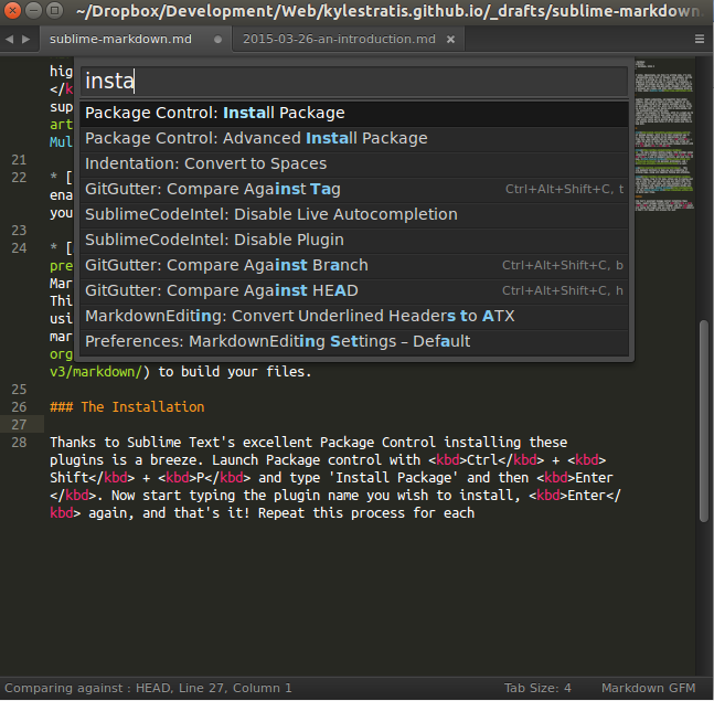 Package Control in Sublime Text